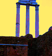 Rome, Roman Forum, Vespasien temple