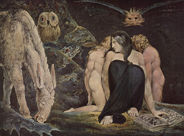 Hécate, œuvre de William Blake