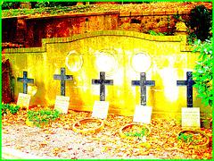 Cimetière de Helsingborg /  Helsingborg cemetery-  Suède / Sweden--Quintette de croix - Crosses quintet / 22 octobre 2008.