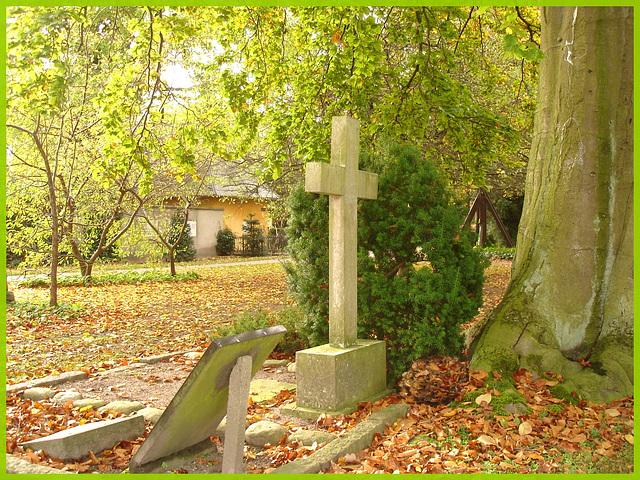 Automne en croix.  Autumn cross- Cimetière de Copenhague- Copenhagen cemetery- 20 octobre 2008