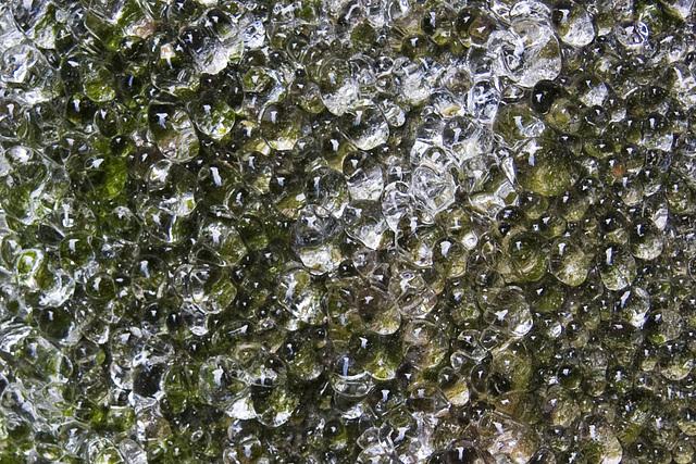 Eis-Stalagmiten