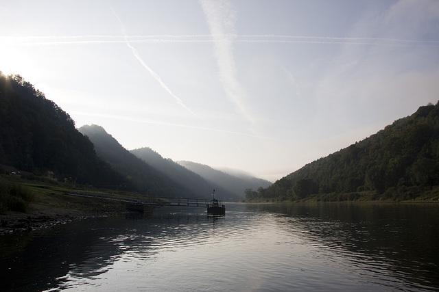 Die Elbe bei Schmilka