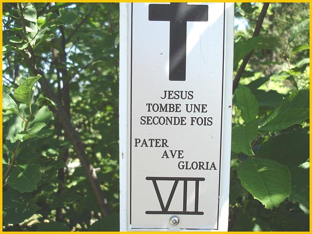 Notre-Dame de Fatima-  Station VII / Bas du fleuve. Québec. CANADA - 22 juillet 2005.
