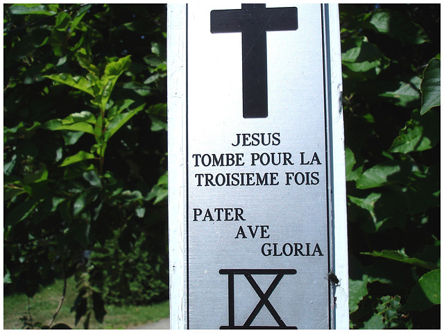 Notre-Dame de Fatima-  Station  IX / Bas du fleuve. Québec. CANADA - 22 juillet 2005.