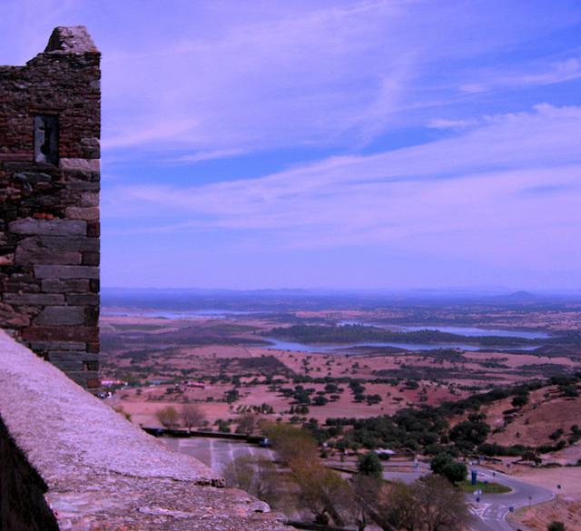 Monsaraz, view over the great lake of the Alqueva's Dam