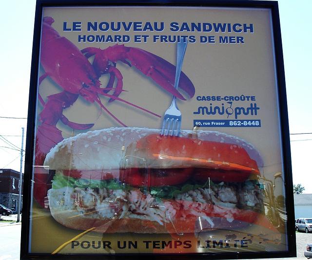 Hot-dog au homard / Lobster hot-dogs
