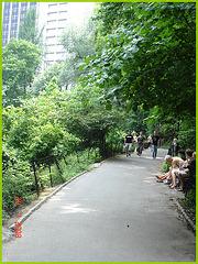 Coup d'oeil sur belle inconnue en talons hauts -Central park's high heels sight- NYC.