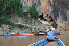 Tham Ting cave at the Mekong