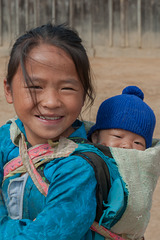 Hmong girl and her brother