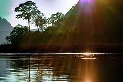 Sunset at Nam Ou river