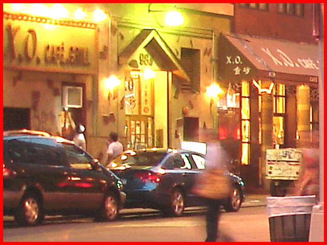 X.O Café grill -  New-York city / USA - 20 juillet 2008.
