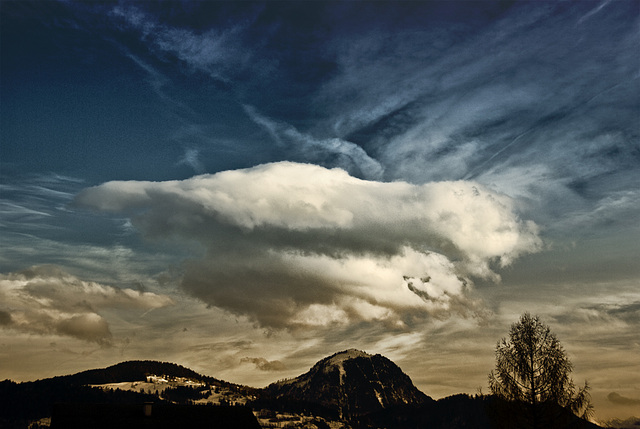 Salzach Valley - Evening Cloud