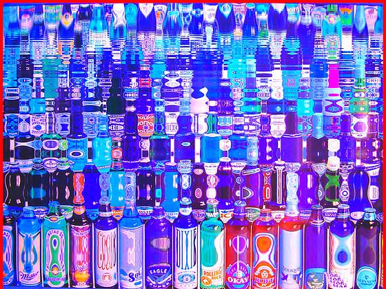 Festival de la bière !  Beer kingdom ! Photofiltre- Reflet d'eau- Water reflection.