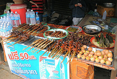 Barbecued eggs and other sticks