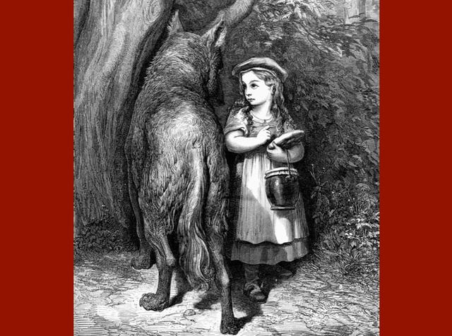 Le Petit Chaperon Rouge, gravure de Gustave Doré