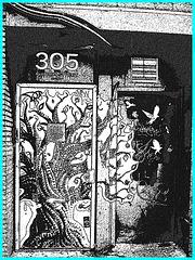 305 Church street- NYC. Création encre de chine Photofiltre