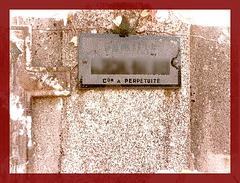 Con à perpétuité ! Stupid for life it says !  Funeral humor !  Un peu d'humour mortuaire maintenant ! Smile ! Souriez !