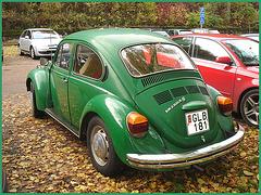 Volkswagen beetle- Gare de Båstad  /  Båstad train station- Suède /  Sweden - 22 octobre 2008