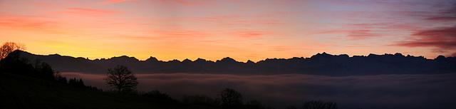 Swiss Alpin Skyline