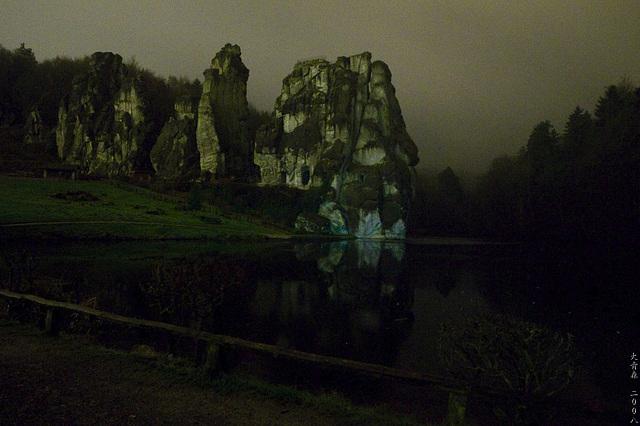 Hermannsweg // Externsteine At Night