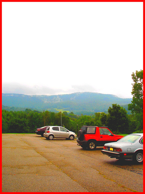 Vermonter Motor lodge landscape / Paysage du Vermont, USA - August 6th 2008.