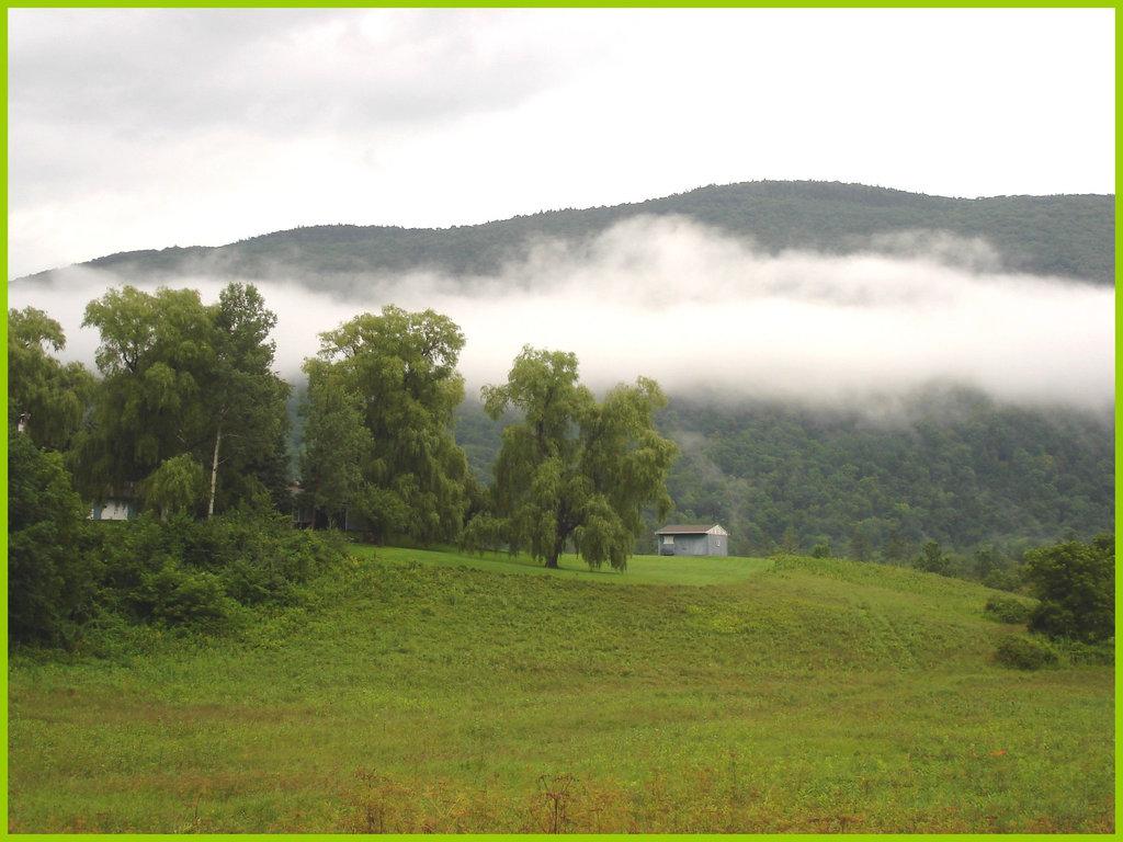 Vermonter Motor lodge landscape / Paysage du Vermont. USA - August 6th 2008.