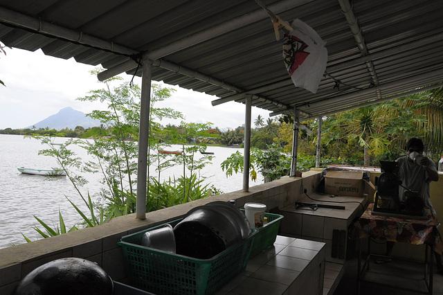 Außen-Küche am Meer