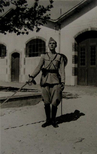 My Father as a conscript Army 2nd Lieutenant, to accomplish the Compulsory Military Service (2)