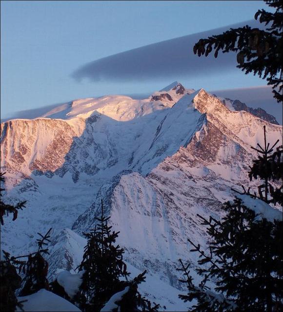 Quand le Mont-Blanc rosit