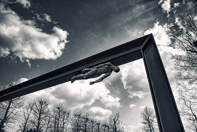 escape of the steel man.....