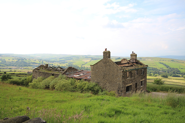 Derelict Farmhouse, Cross Hills, North Yorkshire