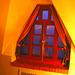 Room's window  -  Fenêtre de chambre /  Abbaye de St-Benoit-du lac au Québec  - 7-02-2009 -  Éclaircie et couleurs ravivées