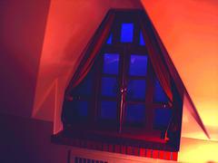 Room's window  -  Fenêtre de chambre /  Abbaye de St-Benoit-du lac au Québec  - 7-02-2009 -  Effet nuit et couleurs ravivées