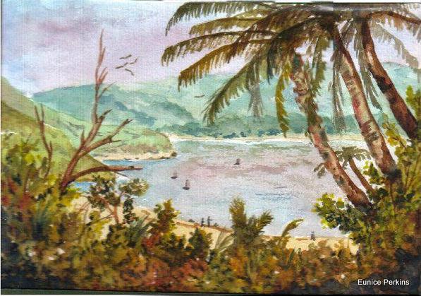 Lake Waikaremoana painting