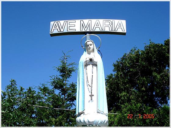 Ave Maria- Notre-Dame de Fatima- Bas du Fleuve- Québec. CANADA. 22 juillet 2005.
