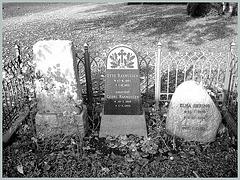 Cimetière de Copenhague- Copenhagen cemetery- 20 octobre 2008- Niveau de gris avec Photofiltre-Rasmussen & Bering.