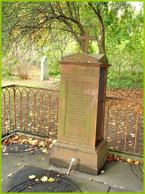 Cimetière de Copenhague- Copenhagen cemetery- 20 octobre 2008-Le repos rouillé- Rest in rust .
