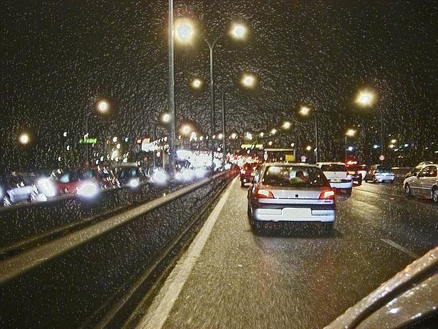 embouteillage froid sur peripherique parisien