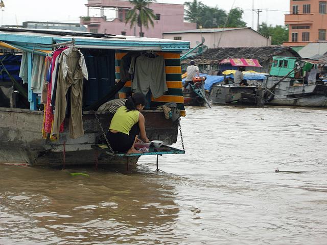 Küche am Boot