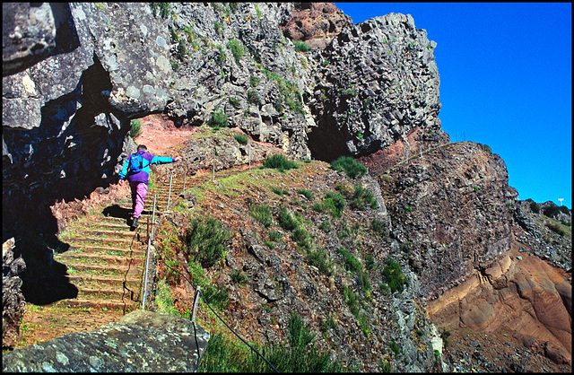 The way to the peak of Madeira