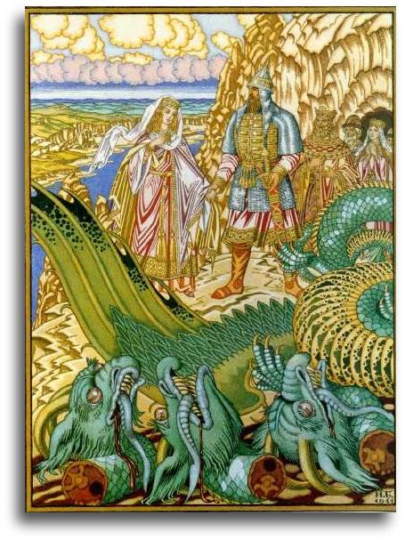 Mythologie slave, œuvre de Ivan Bilibine