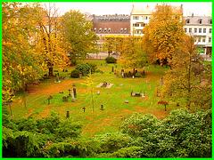 Helsingborg cemetery - Cimetière de Helsingborg-  Suède / Sweden  - From the top of the hill - Du haut de la colline.22 octobre 2008