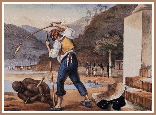 Punition d'un esclave au Brésil [gravure]