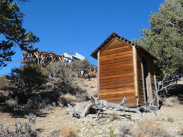 Salt Tram Summit Control Station Tender's Cabin - Outhouse (1906)