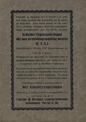 F. C. Richter: Esperanto-Lehrbuch (Dorso/Rückseite)