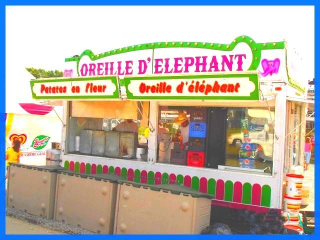 Festival Équestre  / Equestrian festival  - Oreille d'éléphant et patates en fleur /  Elephant ears and flowery potatoes -  Le Sûroit au Québec.