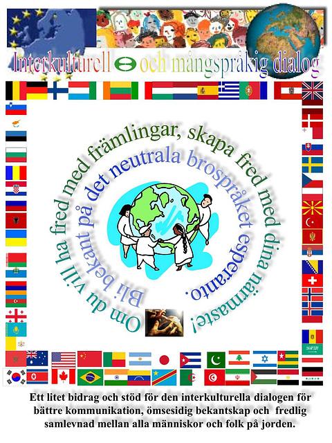 Interkultura kaj multlingva dialogo - en sveda lingvo