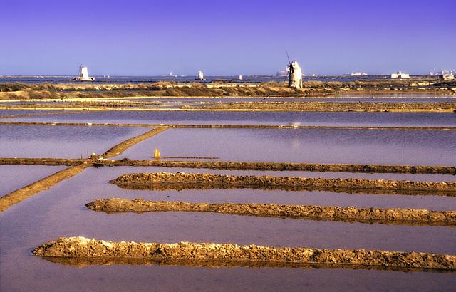 Salt basins near Trapani