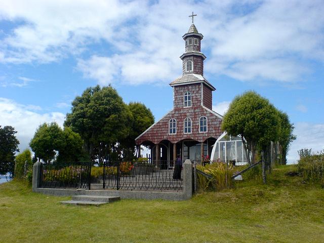Eglise en bois à Chacao, Chili