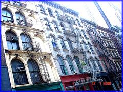 Pâté architectural Newyorkais-  Artistic builfings eyesight- NYC- 19-07-2008.
